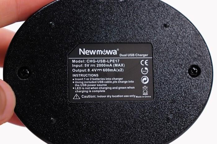 Newmowa 互換バッテリー LP-E17、USB急速充電器の詳細