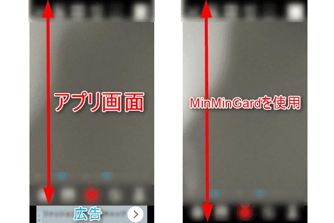 MinMinGardで広告をブロックした比較