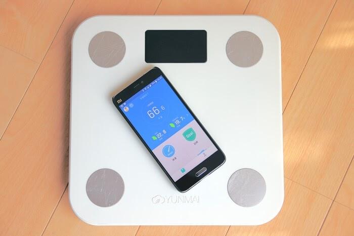 YUNMAIのBluetooth体組成計、スマートフォンと連動