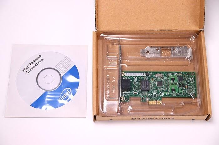 LANカード、Intel EXPI9301CTの付属品
