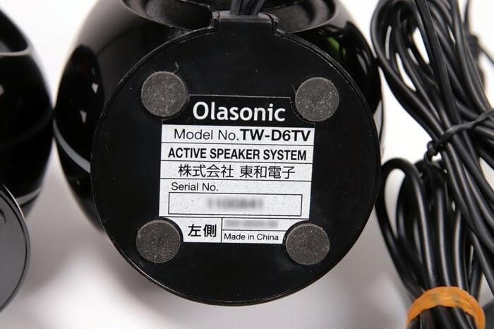 Olasonic(オラソニック)のスピーカー、TW-D6TVのスタンド、台座の裏