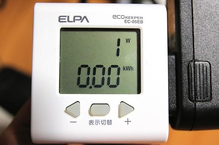 Olasonic(オラソニック)のスピーカー、TW-D6TVの消費電力