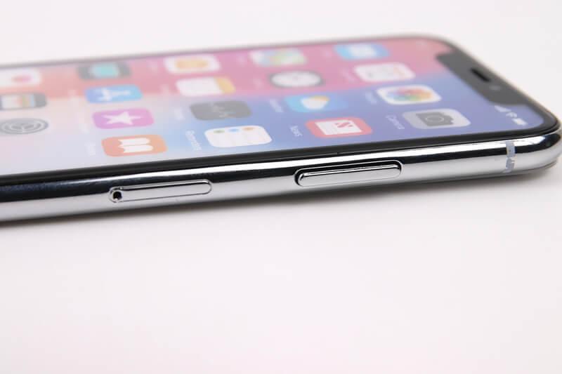 iPhone X、モックアップのスリープボタン