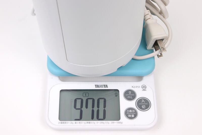 Panasonic ジェットウォッシャー EW-DJ71の実測重量を計測