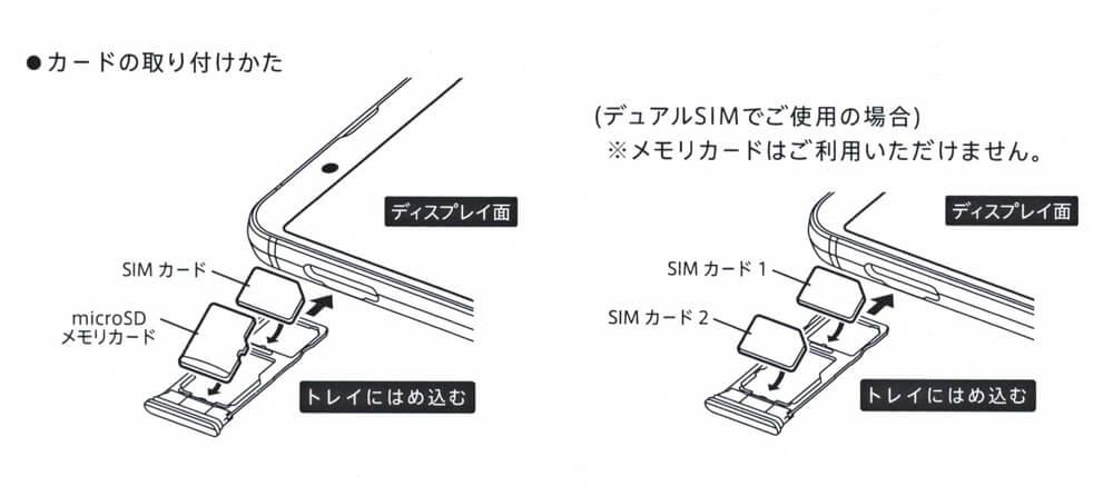 AQUOS Sense3 SH-M12 SIMカードの入れ方