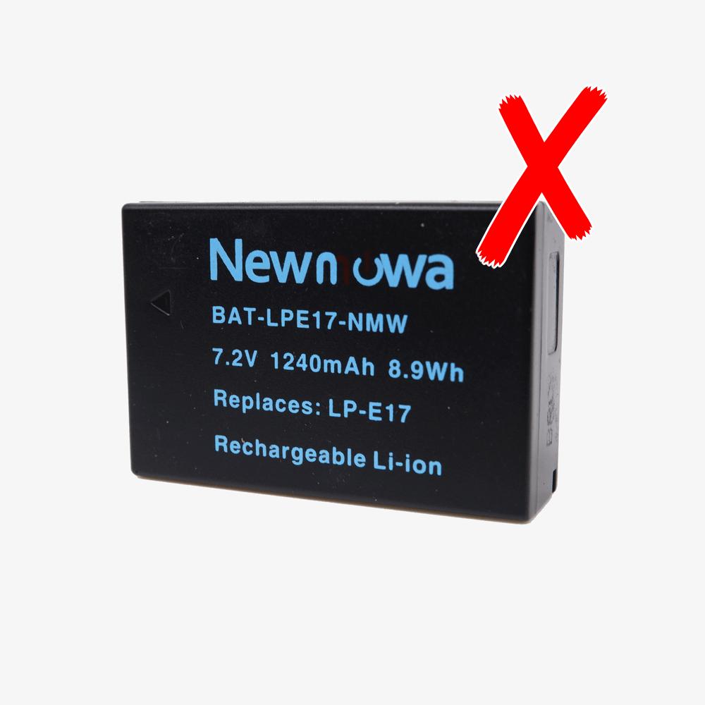 Newmowaの互換バッテリーは使えない