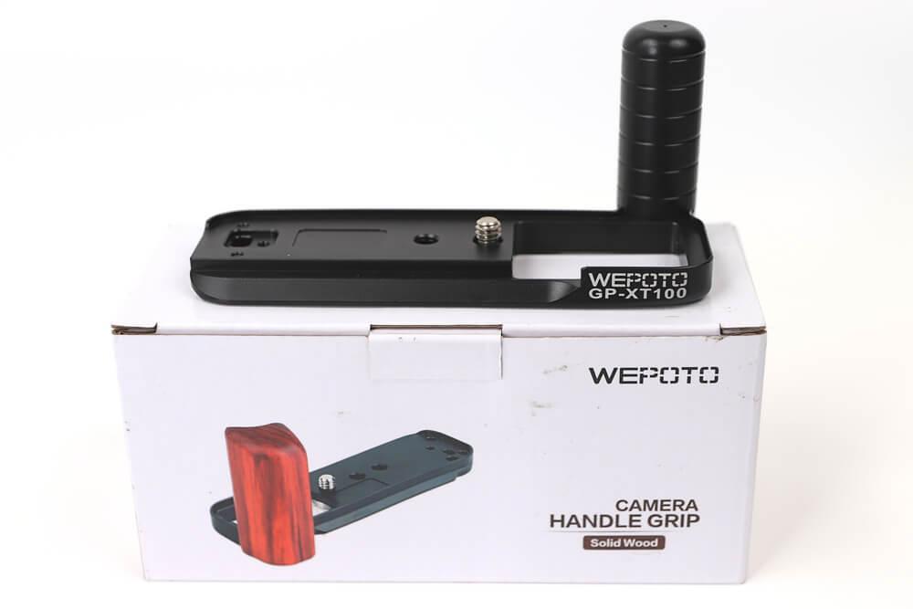 WEPOTO X-T100用ハンドグリップの箱