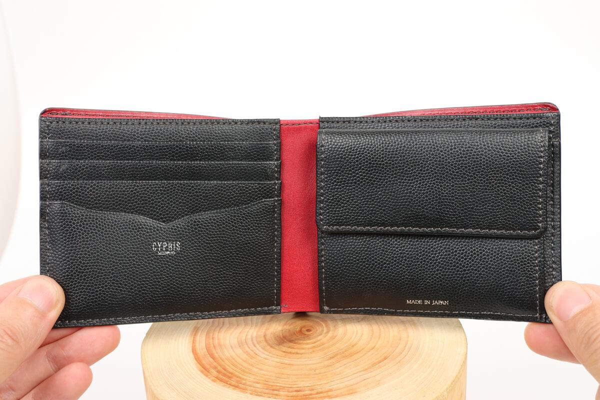 キプリス ペルラネラ 二つ折り財布を開いた状態
