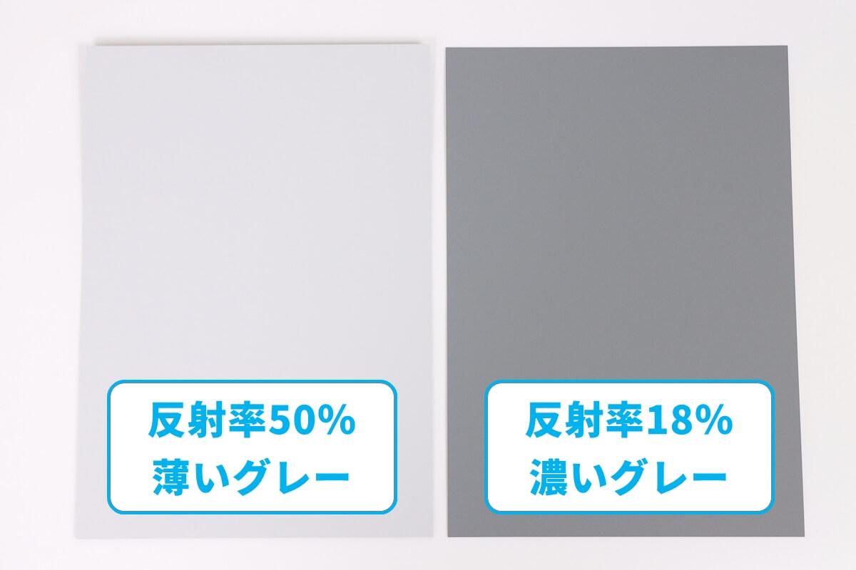 銀一 シルクグレーカード、濃いグレーと薄いグレー