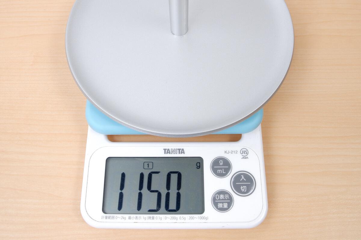 無印良品 スタンドミラー 大の実測重量
