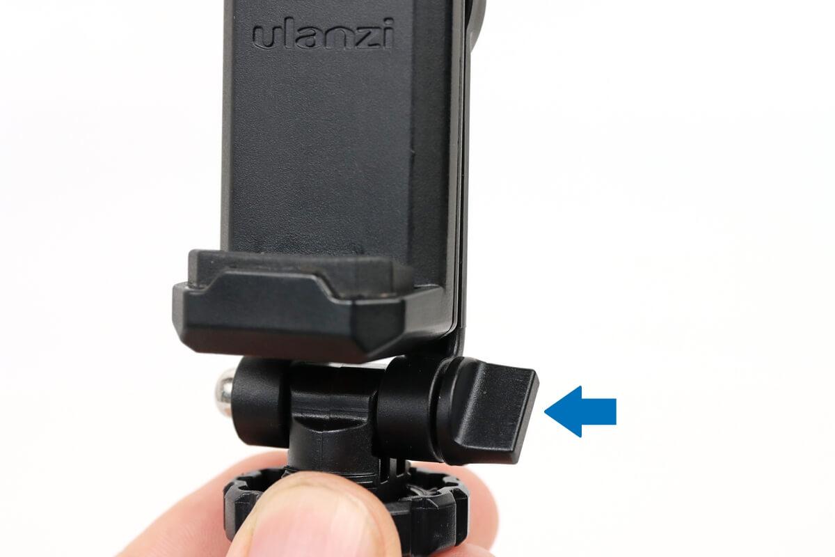 ULANZI ST-06 スマートフォン三脚マウントのツマミ