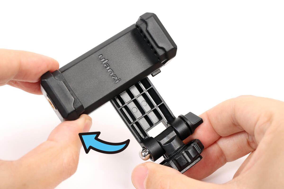 ULANZI ST-06 スマートフォン三脚マウントを縦向きにする方法