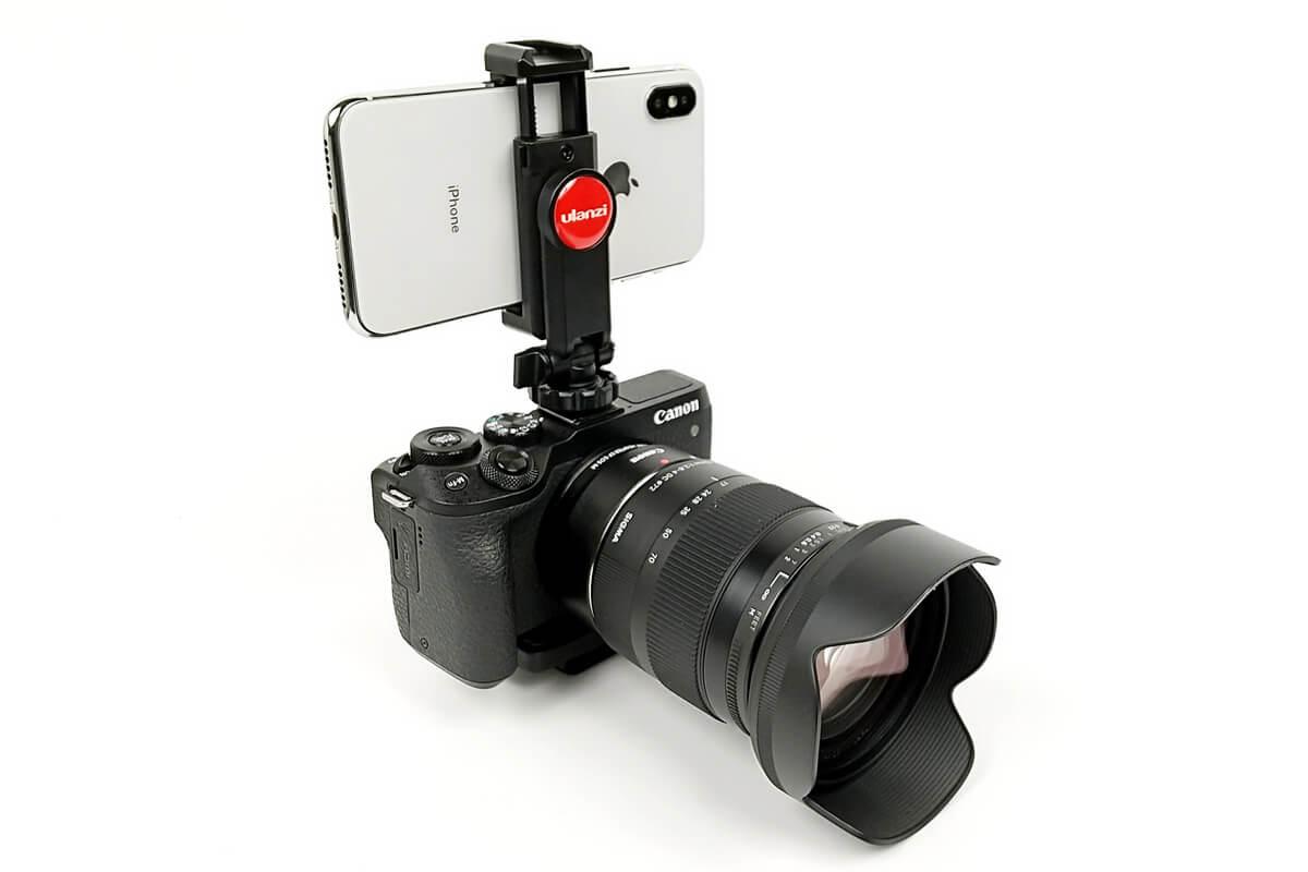 ULANZI ST-06 スマートフォン三脚マウントとミラーレスカメラを組み合わせる