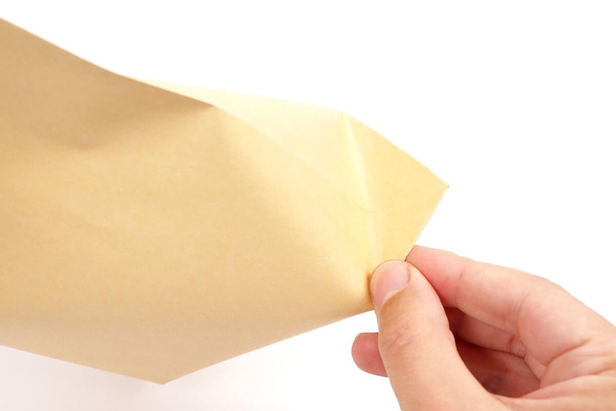 封筒でポップコーン、封筒の折り方