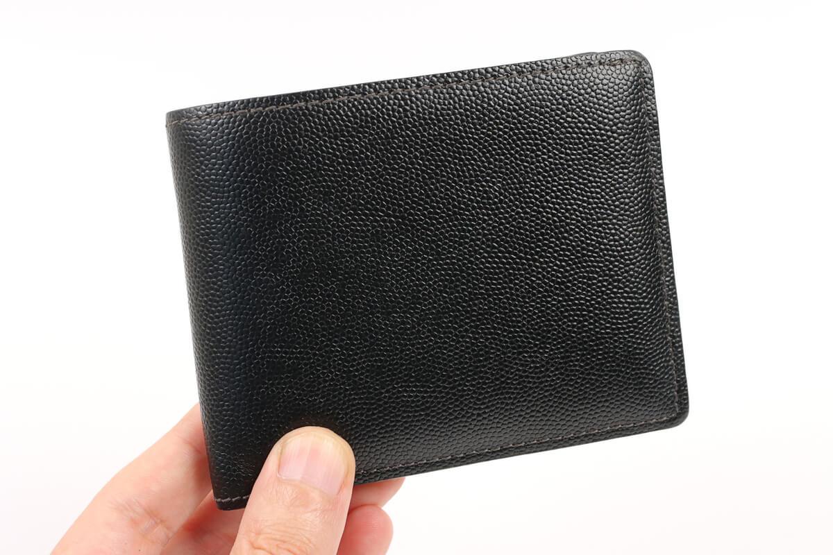 手入れした二つ折り財布
