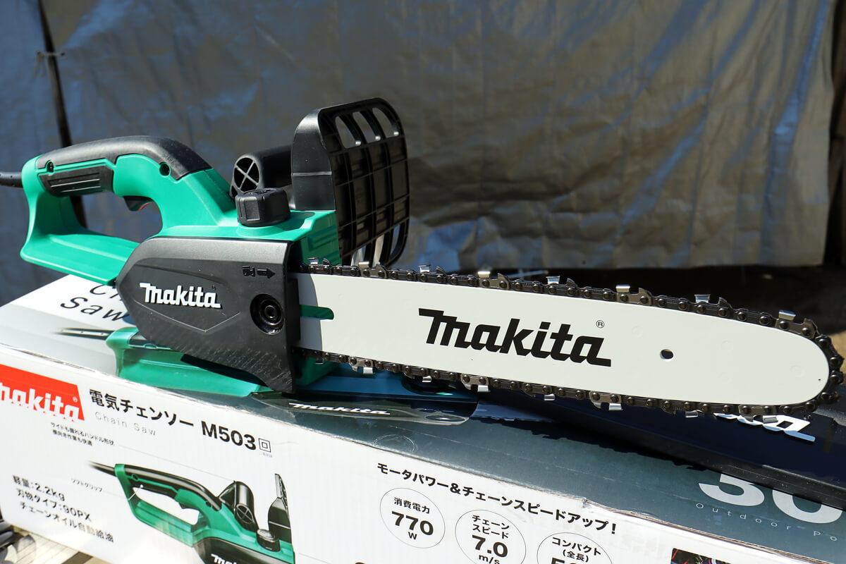 マキタ 電気チェーンソー M503の刃は300mm