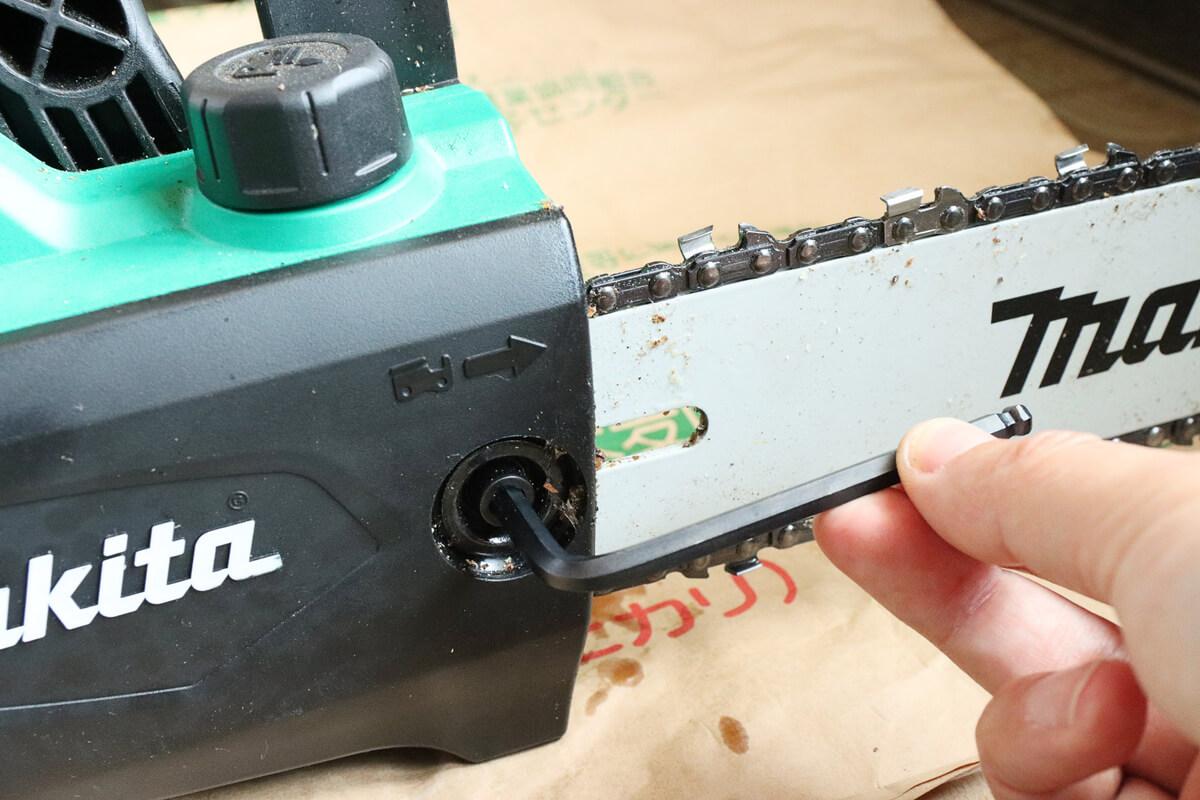 マキタ 電気チェーンソー M503の保護カバー