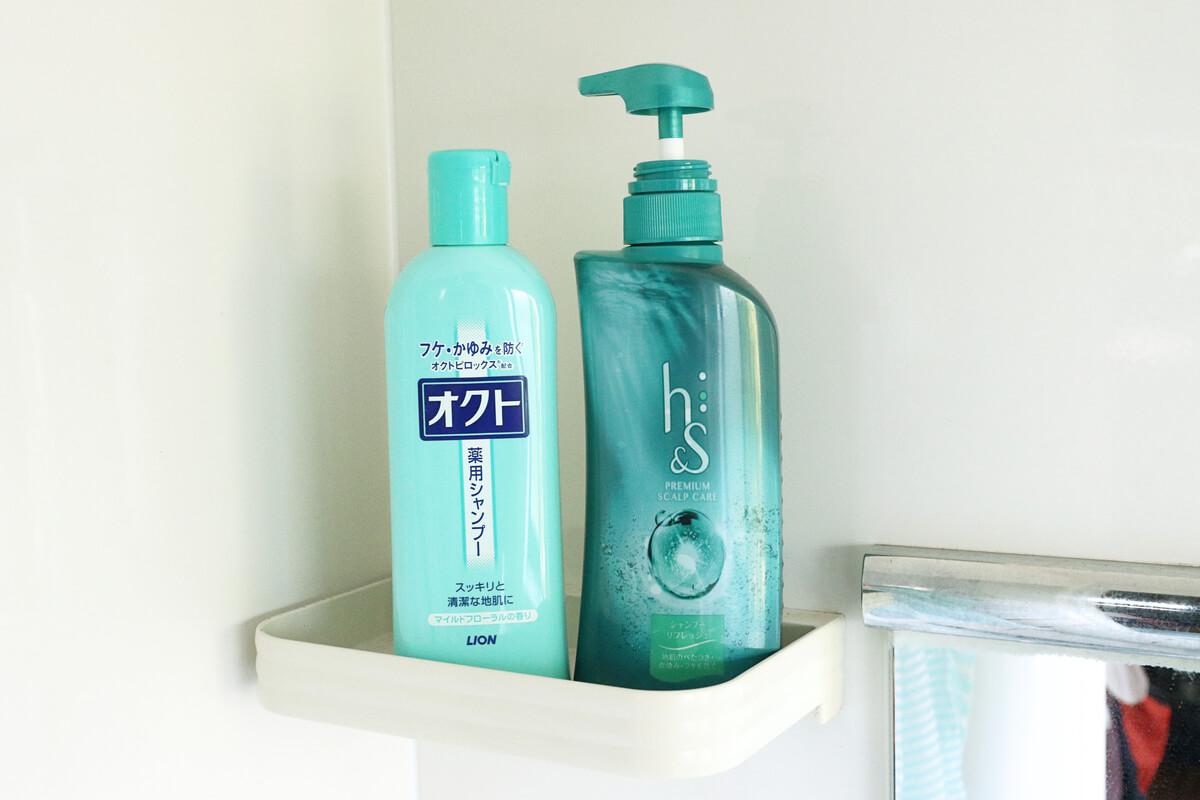 オクトとH&Sのシャンプーは脂漏性皮膚炎に効果的